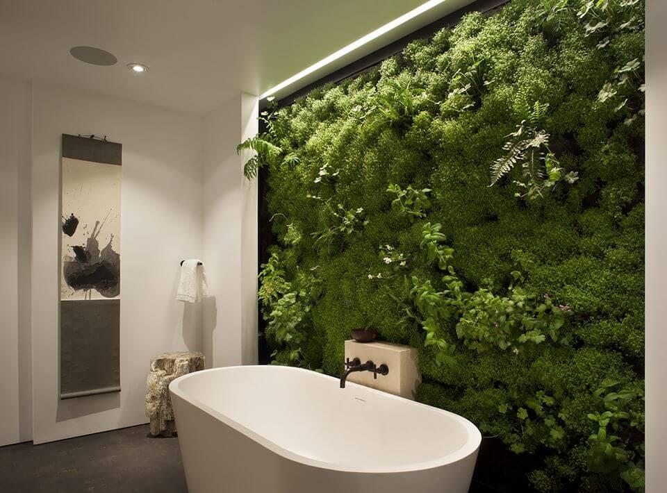 moswand badkamer