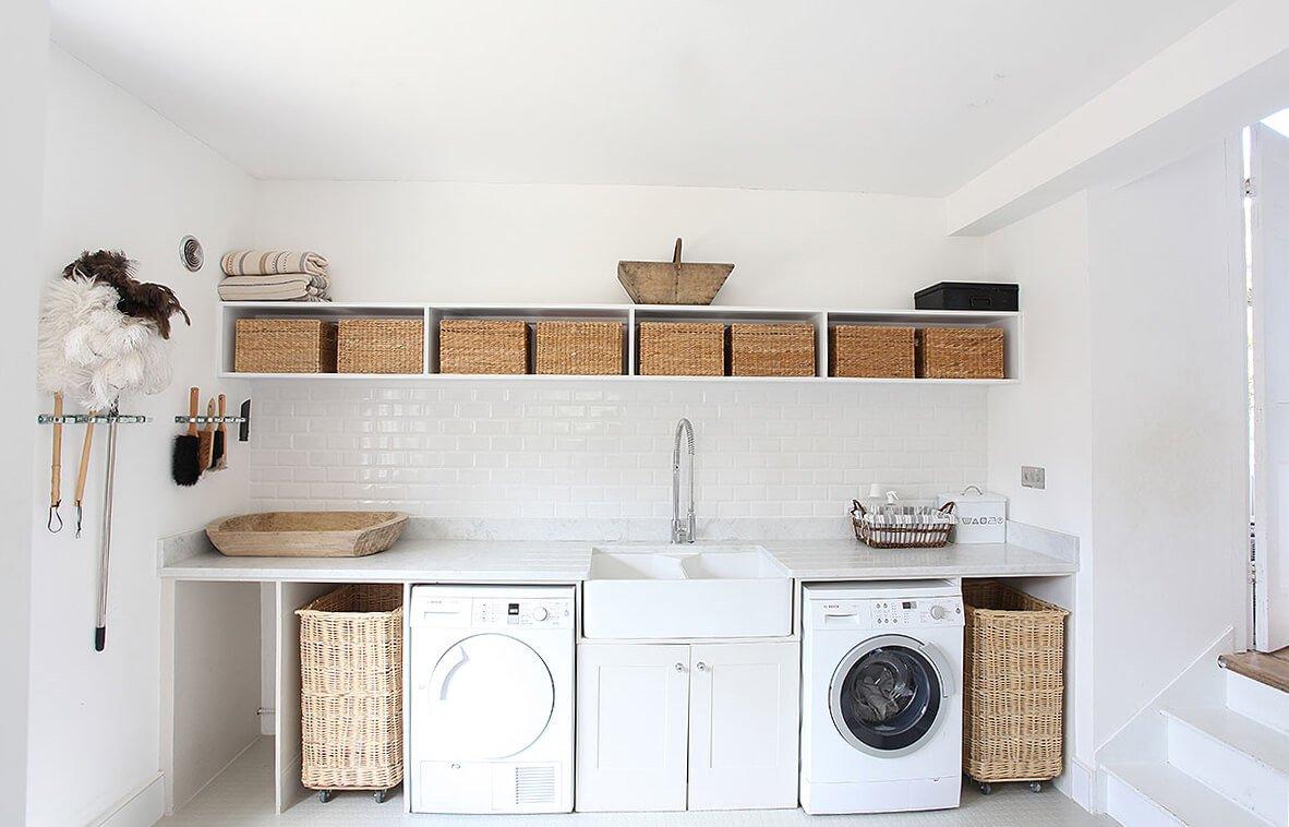 minimalistische wasruimte