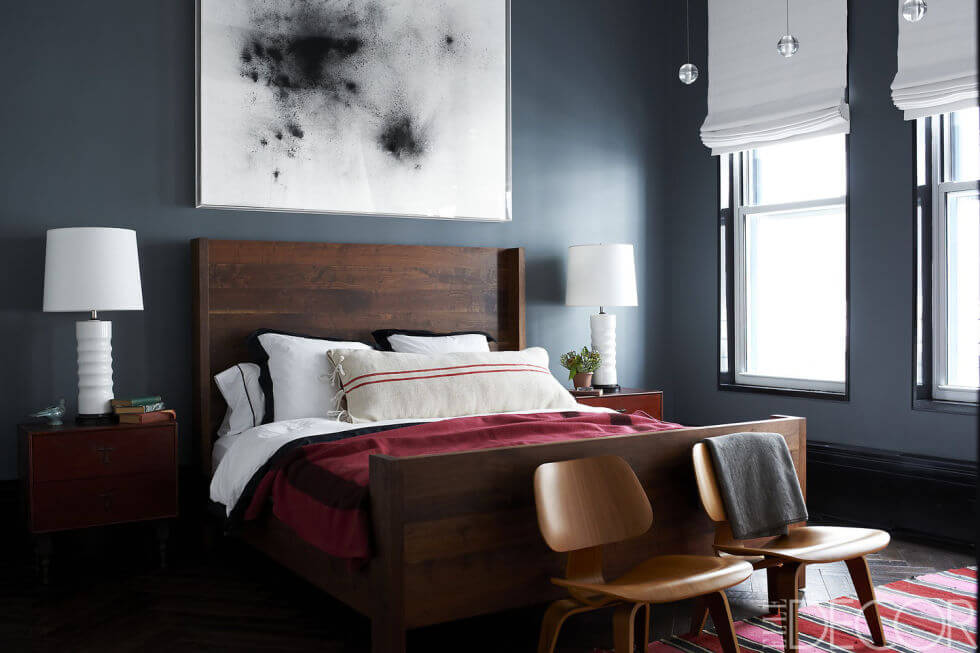 slaapkamer donkere muur