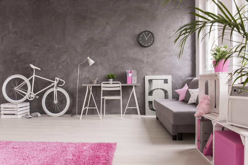 fiets als decoratie in huis