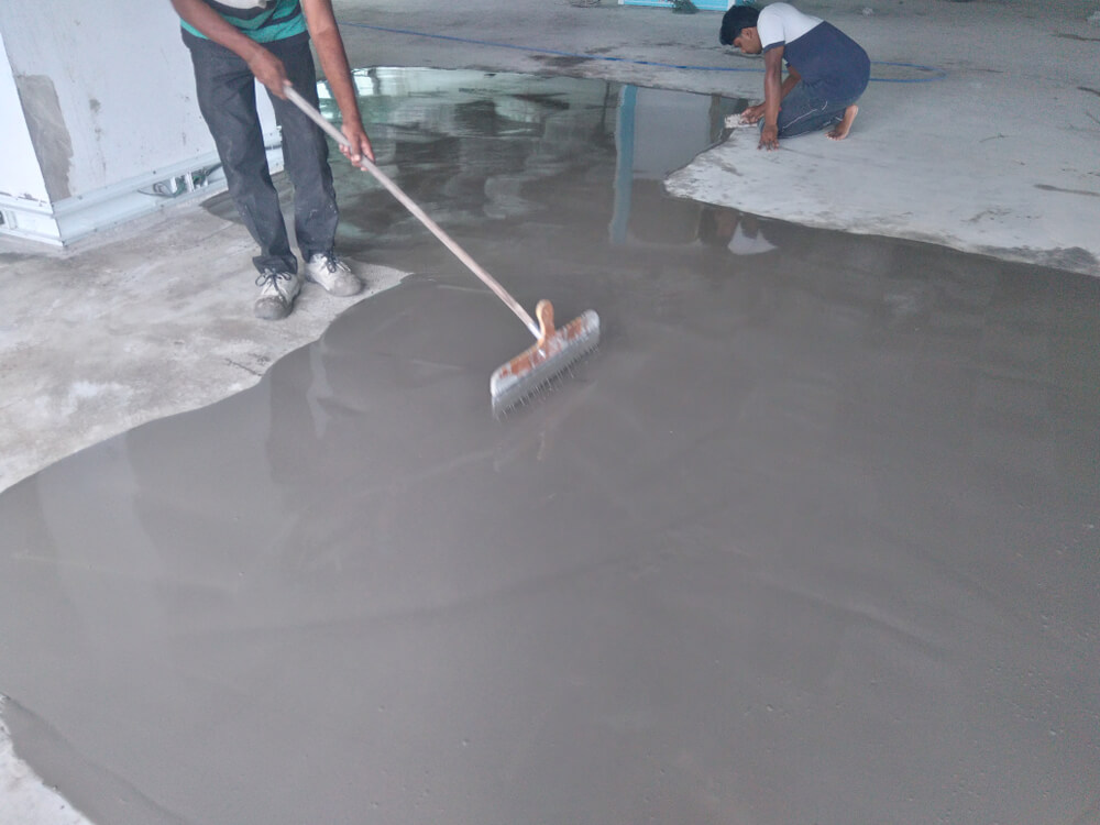 pouring floor