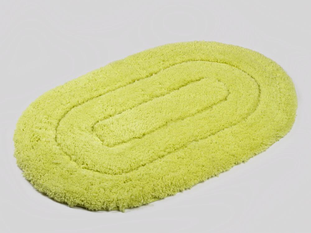 Ovale badmat groen