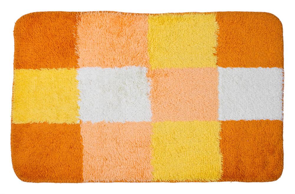 Vrolijk gekleurde badmat