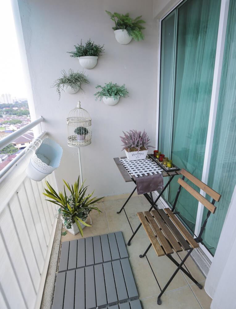 klein balkon inrichten