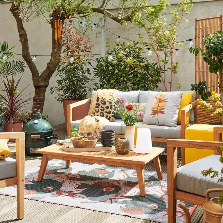 gezellig zithoekje tuin