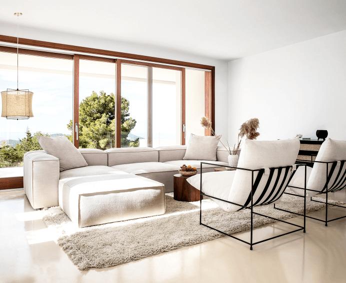 aardetinten woonkamer