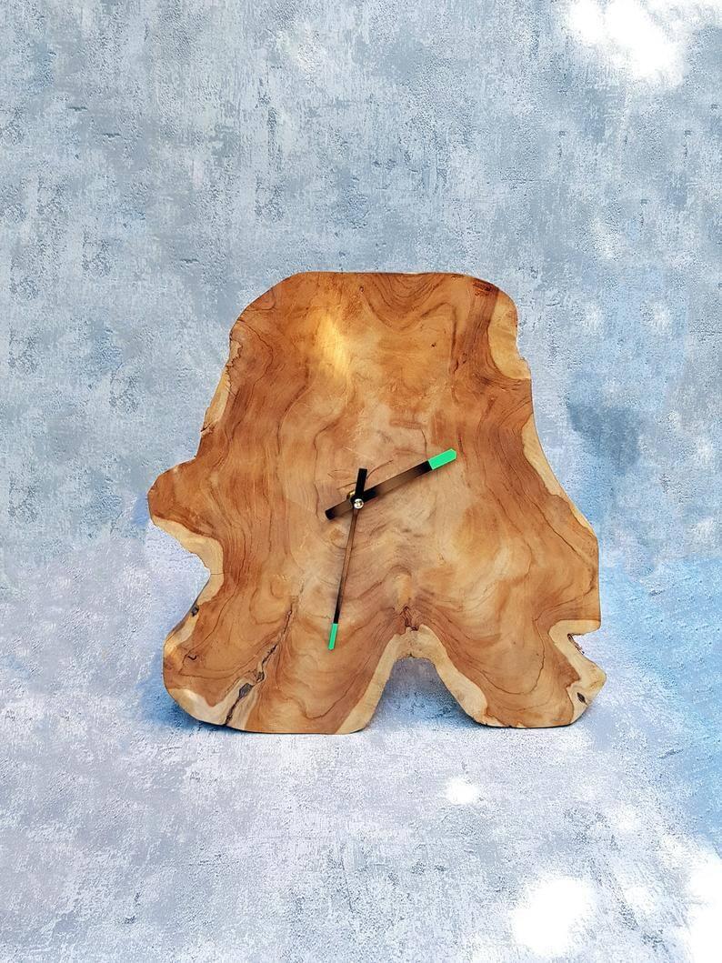 wandklok hout