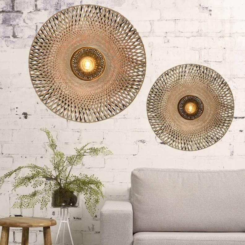 bamboe wandlamp