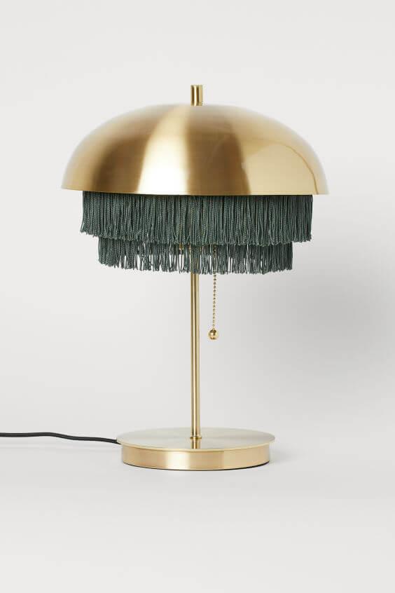 art deco lamp franjes