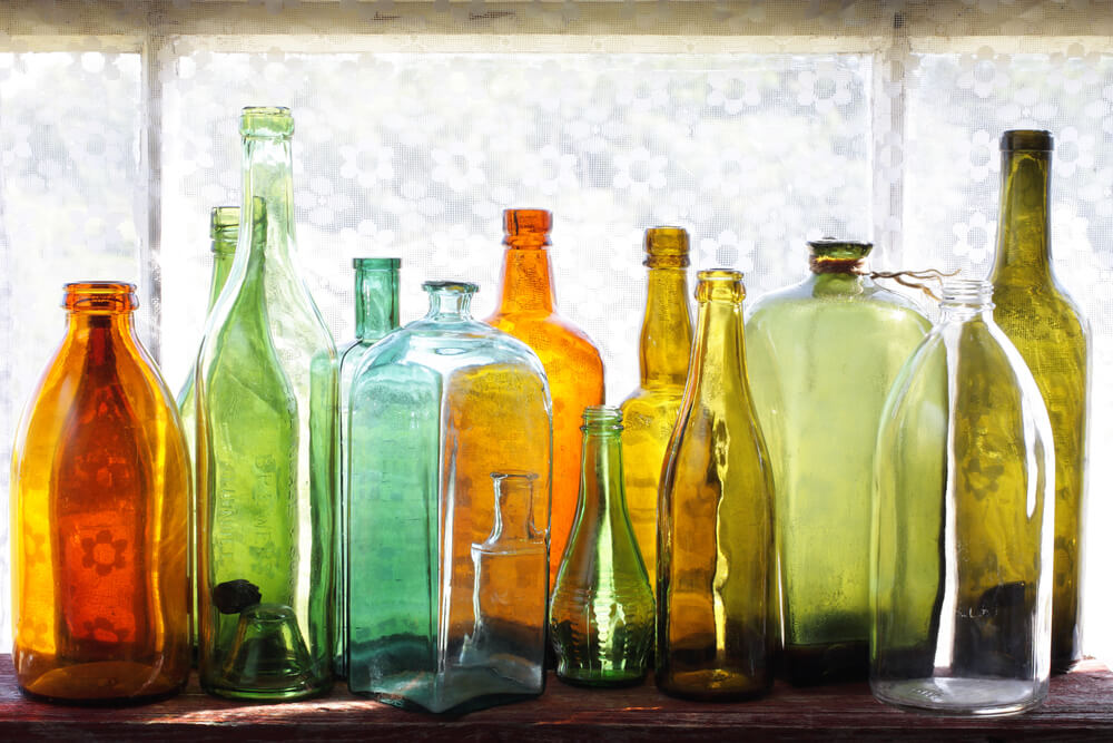 Glazen flessen