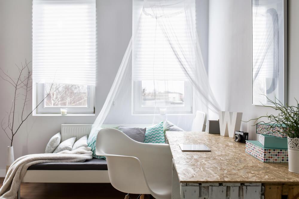 kleine slaapkamer ruimte besparen