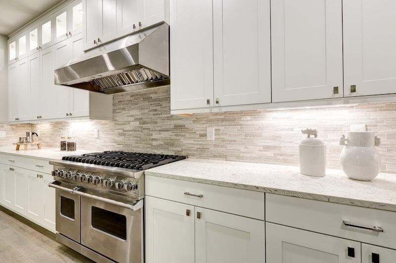 Achterwand keuken natuursteen