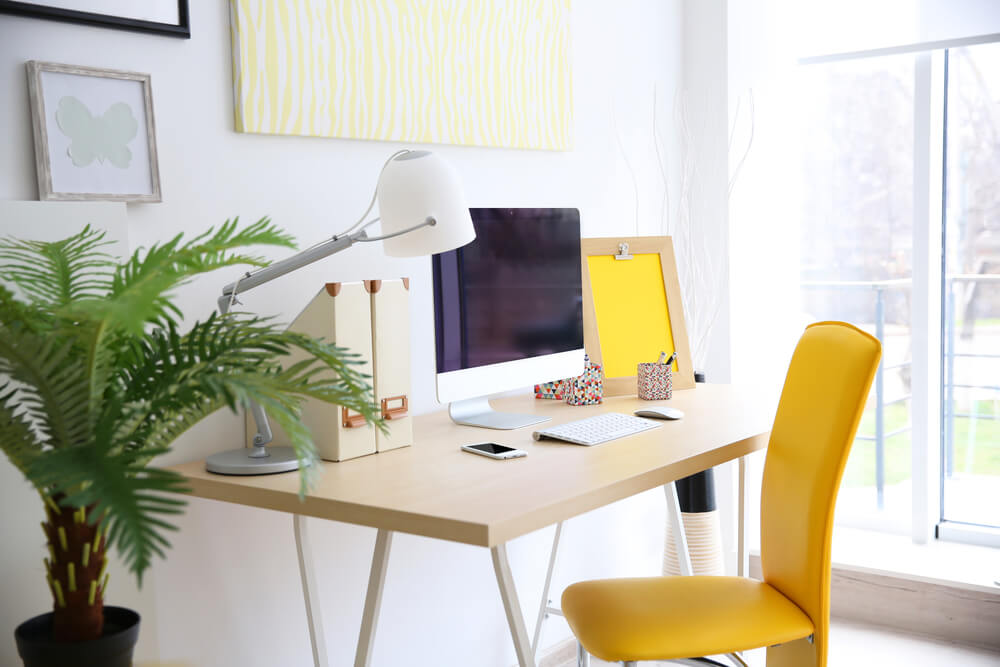 Home office woonkamer