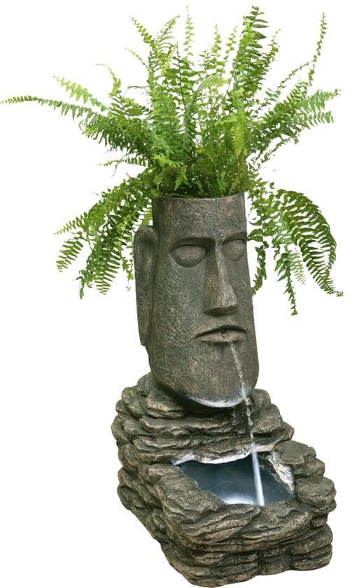 Paaseiland plantenbak en waterornament