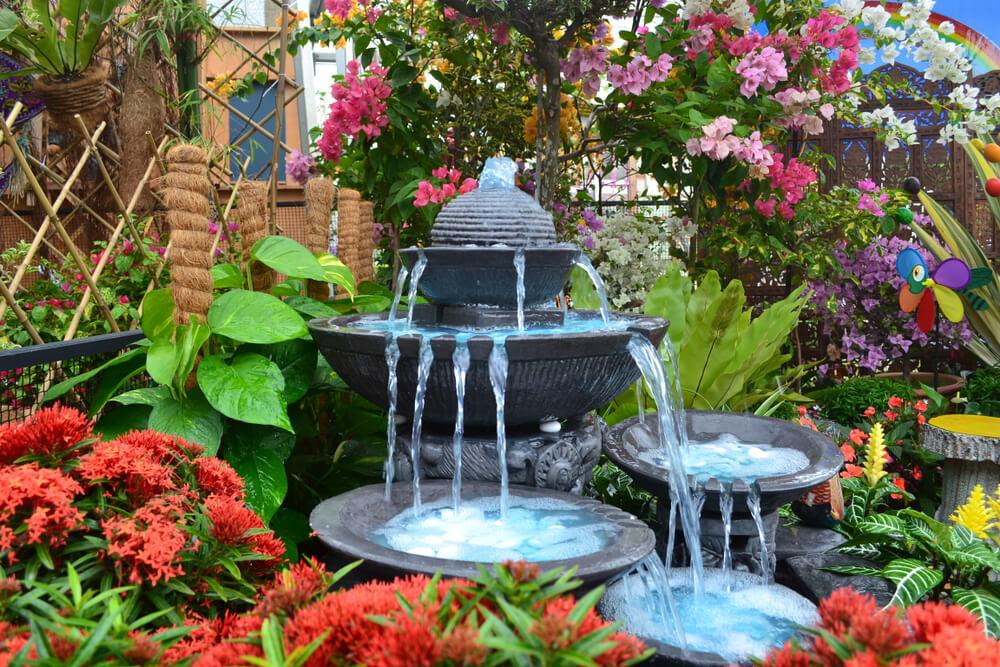 Schalen fontein waterval