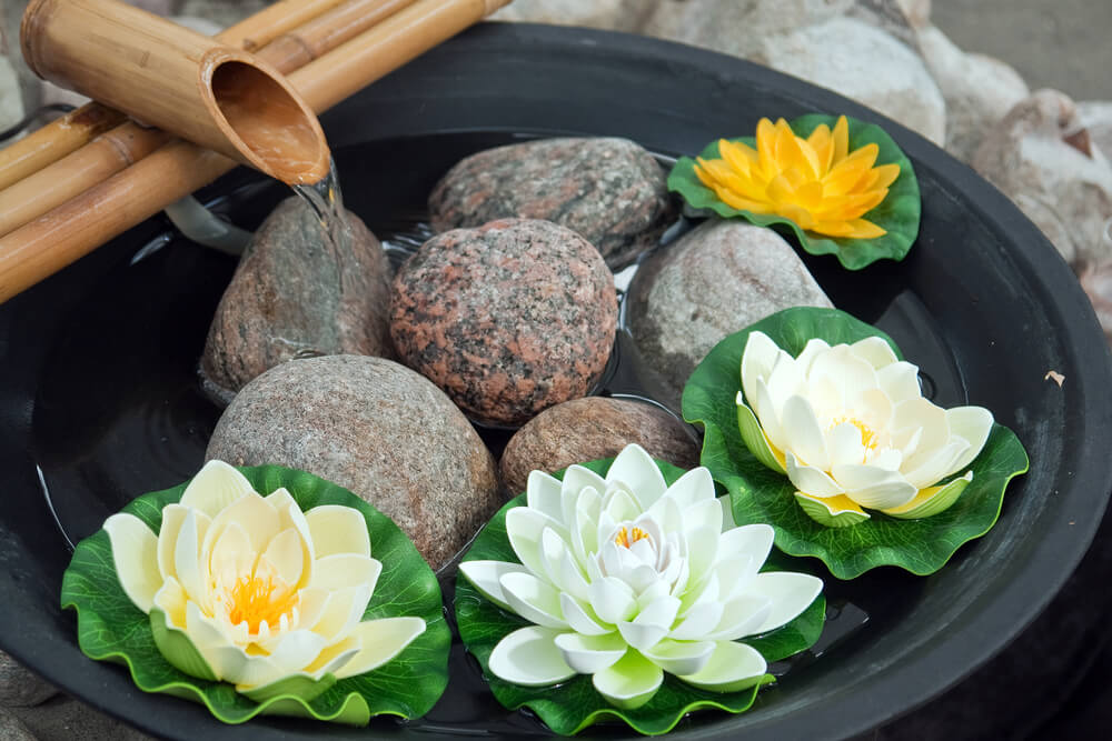 Japanse zen fontein