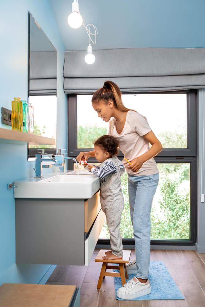 Kinderen in huis Tips interieur badkamer