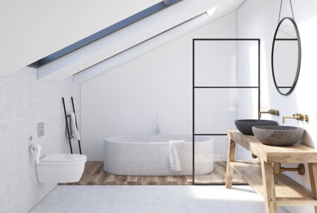 Een uniek interieur: een badkamer op zolder