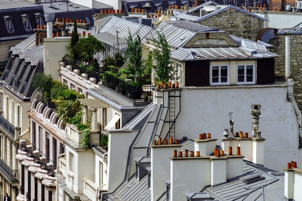Parijse dakterrassen
