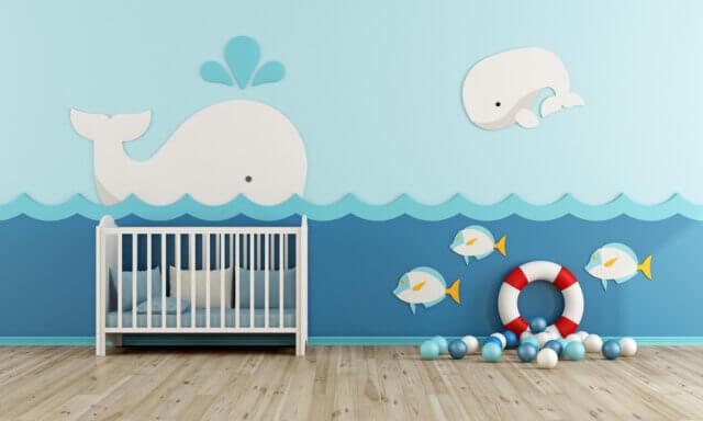 Cute in de babykamer: een thema met strand