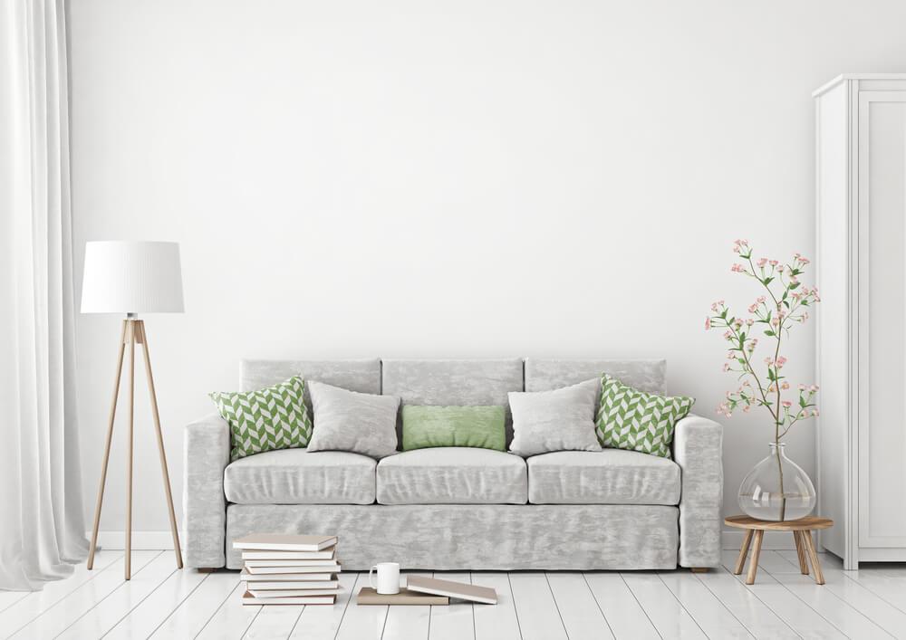 Pak uit met pastelgroen in de woonkamer