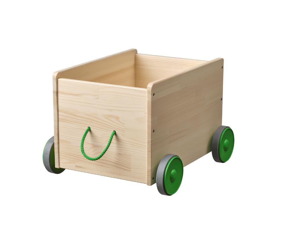 Mooi en handig voor speelgoed opbergen: opbergkist op wielen