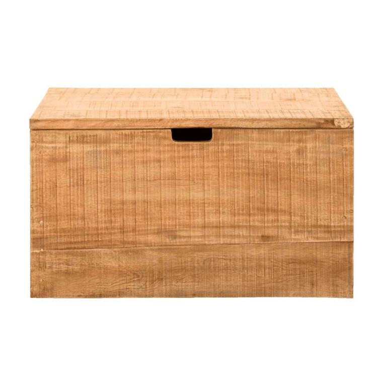 Een echte klassieker in de kinderkamer: een houten kist voor opbergen