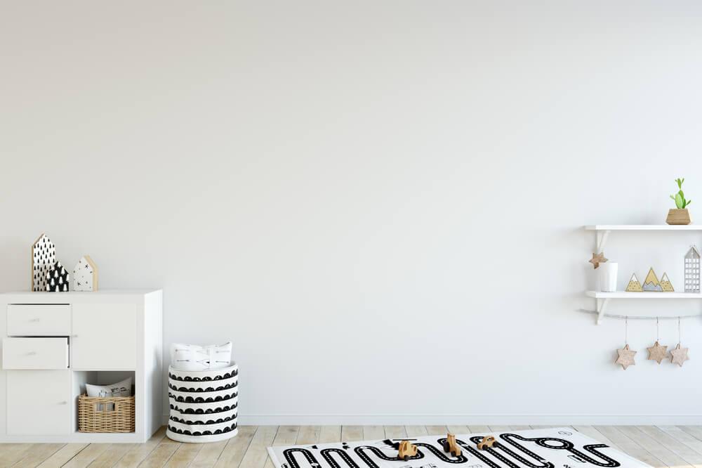 Wit in de kinderkamer: minimalistisch
