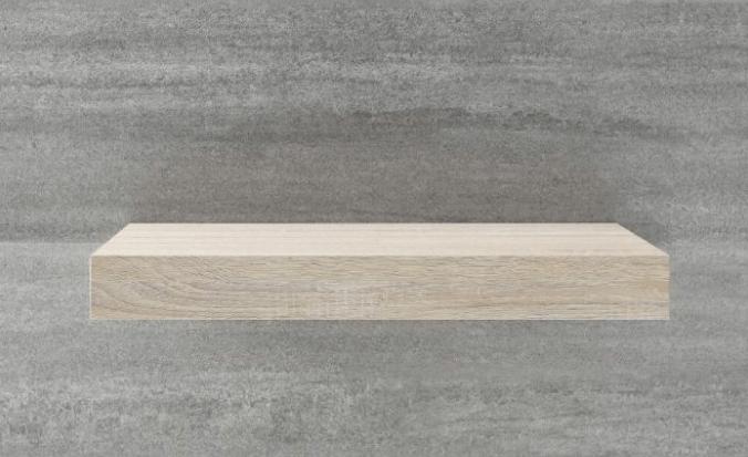 Stevige plank in de badkamer