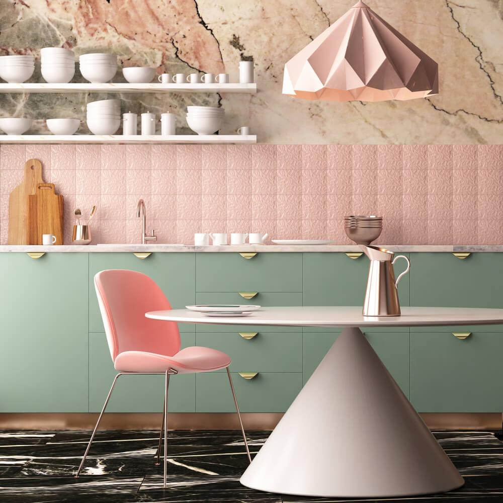 Pastelkleuren combineren in de keuken