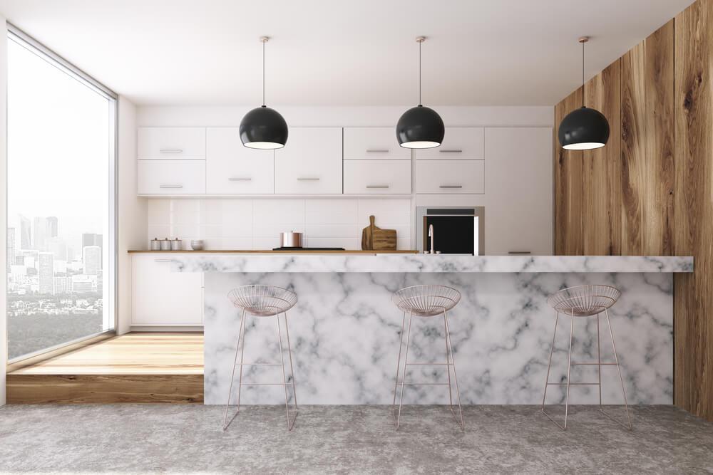 Uniek in de keuken: een marmeren bar
