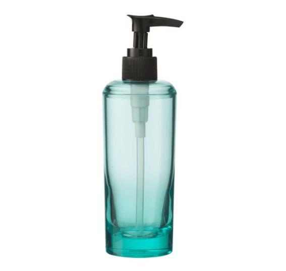 Transparant zeeppompje voor de badkamer