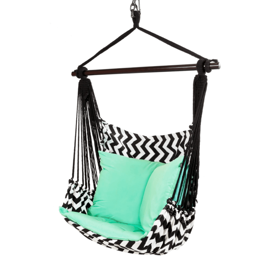 Hangstoel met geometrische print