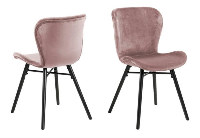 Roze stoelen voor de eettafel
