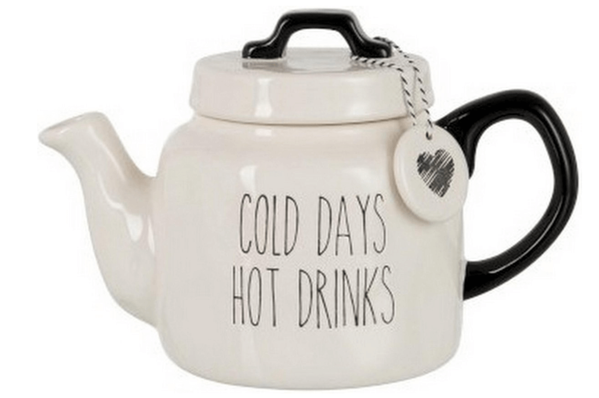 Cold days, hot drinks theepot