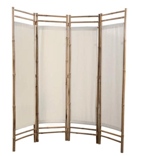 Een canvas kamerscherm als room divider