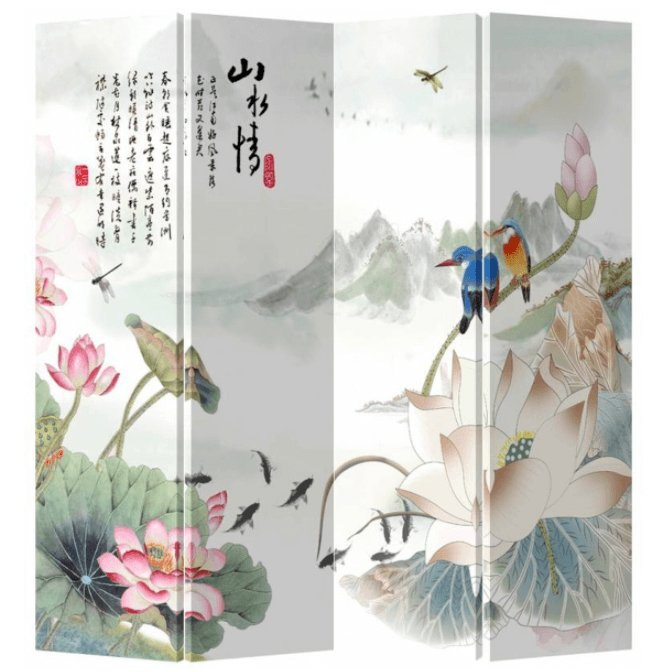 Mooi en opvallend: een kleurrijk kamerscherm met print