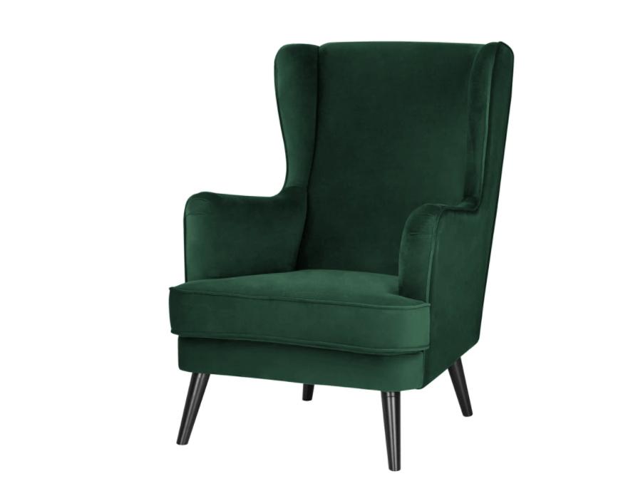 Diepgroen en klassieke fauteuil