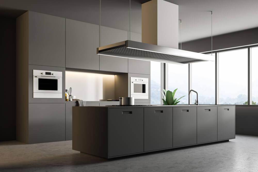 Prachtig: een moderne grijze keuken