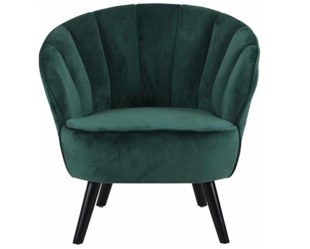 ronde rugleuning groene fauteuil