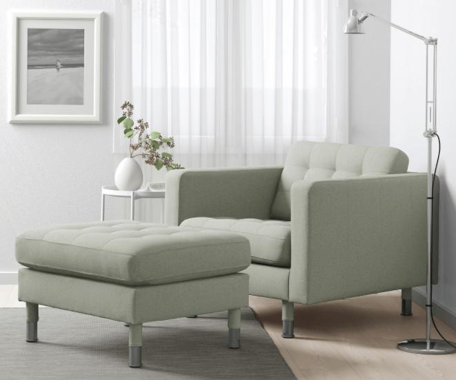 olijfgroene fauteuil ikea