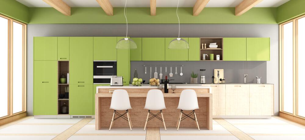 Groen in de keuken: 6 verschillende voorbeelden