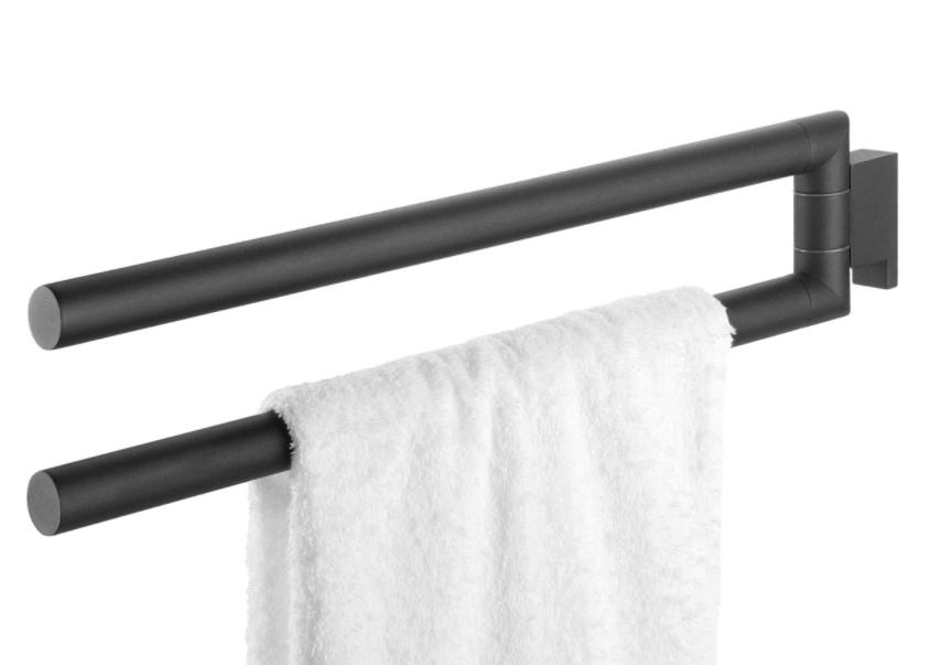 9x Prachtige Zwarte Handdoekenrekken Voor In De Badkamer Ik Woon Fijn