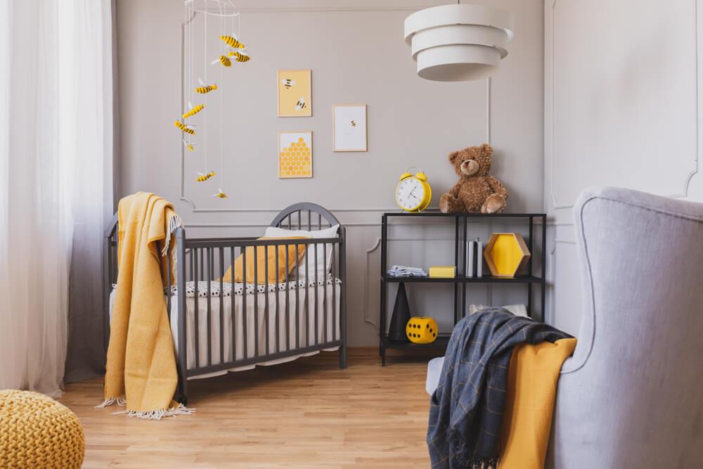 Tof in de babykamer: bijen aan de muur