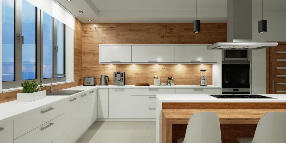 Sfeervol: een houten wand in de keuken