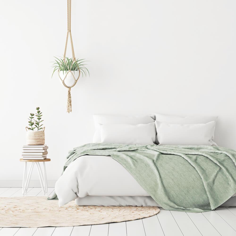 Hangplanten ophangen boven je bed: sfeervol en fris