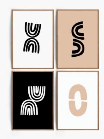 Printables downloaden voor een minimalistisch en modern interieur