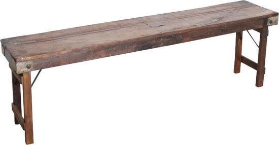 Inklapbare eetbank hout