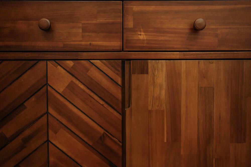 Herringbone patroon meubels