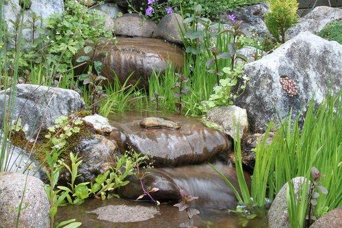Natuurlijke waterval verloop